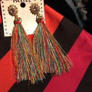 Jewelry - Multi color tassel earrings